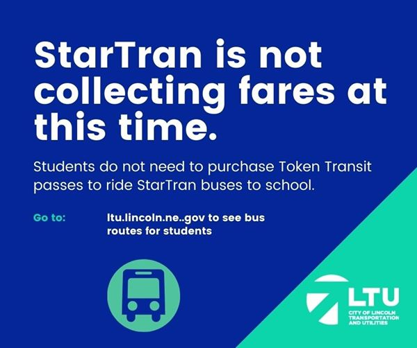 Please note if your student rides the city bus: